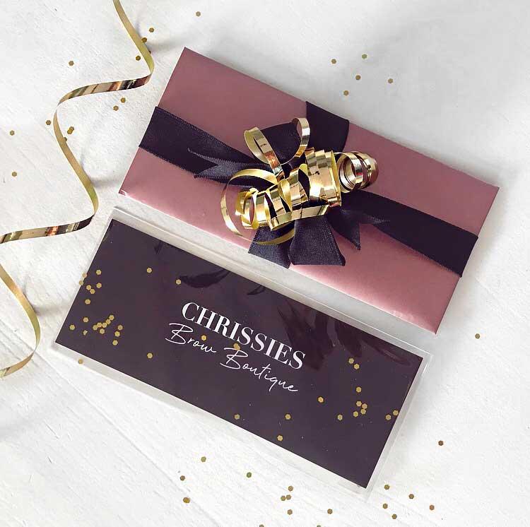 Gift Card Chrissies Brow Boutique wenkbrauwen Apeldoorn