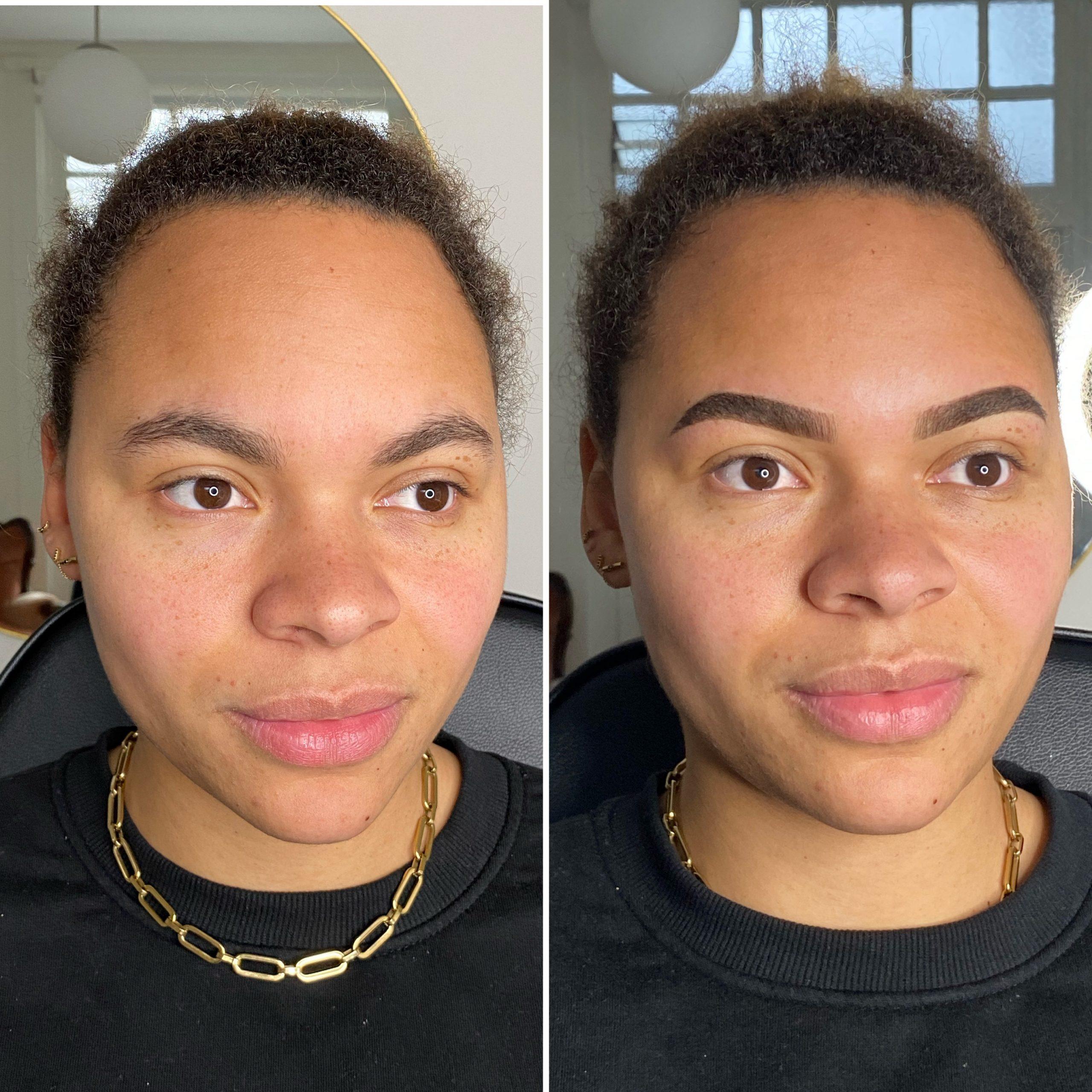 Semi PMU Ombré powder brows